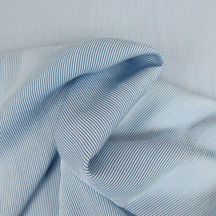 Tissu Viscose Stripe - Bleu x 10 cm