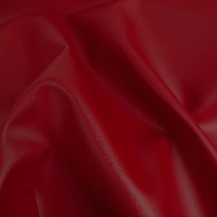 Tissu Simili Cuir - Rouge x 10 cm