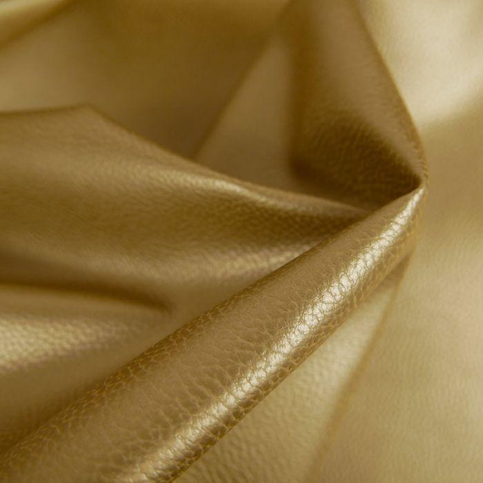 Tissu Simili Cuir - Or x 10 cm