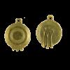 Breloque assiette 20mm bronze x1
