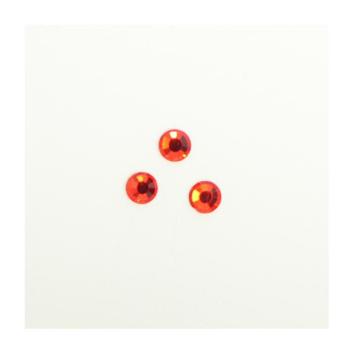 Perles à coller strassées 5mm rouge