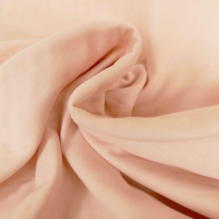 Tissu Double-Gaze Bio - Rose Poudré - C. Pauli