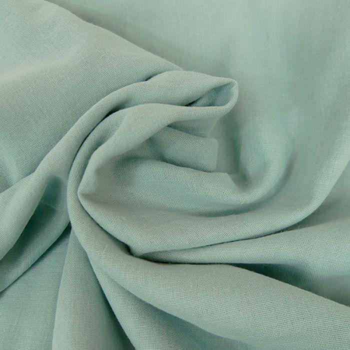 Tissu Double-Gaze Bio - Bleu Ciel - C. Pauli