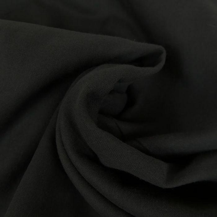 Tissu Double-Gaze Bio - Noir - C. Pauli