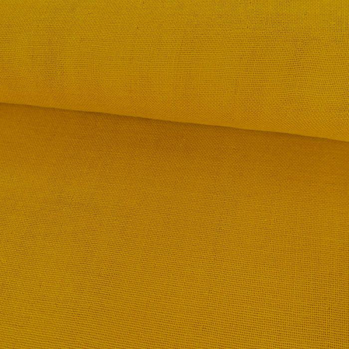 Coupon Double-Gaze Bio Moutarde C. Pauli - 50 X 150 cm