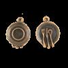 Breloque assiette 20mm cuivre x1