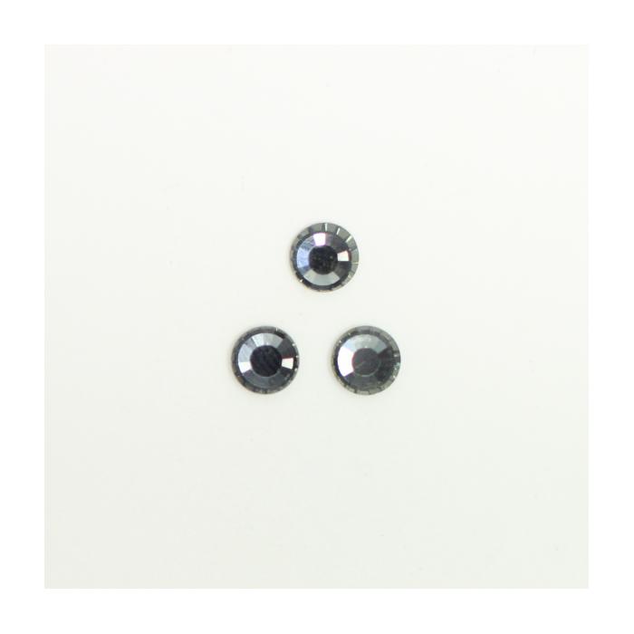 Perles à coller strassées 6mm gris