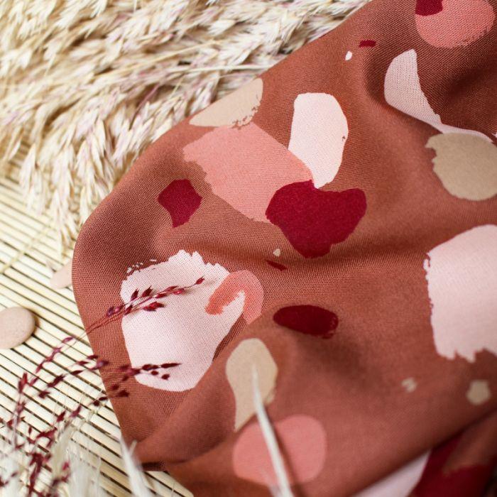 Tissu Granito Chestnut - Atelier Brunette x 10 cm