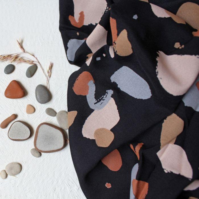 Tissu Granito Night - Atelier Brunette x 10 cm