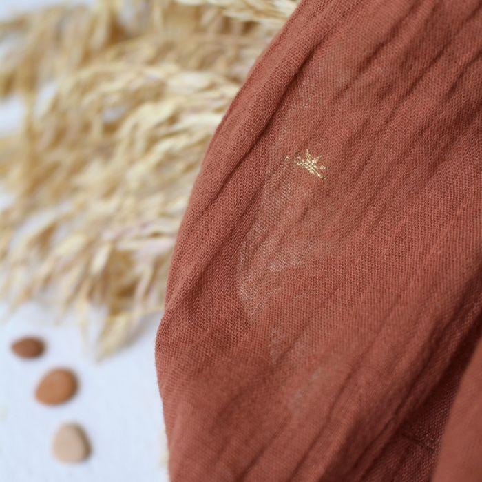 Tissu double gaze Sunset Chestnut - Atelier Brunette x 10 cm