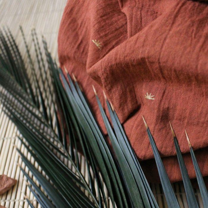 Tissu Sunset Chestnut - Atelier Brunette x 10 cm