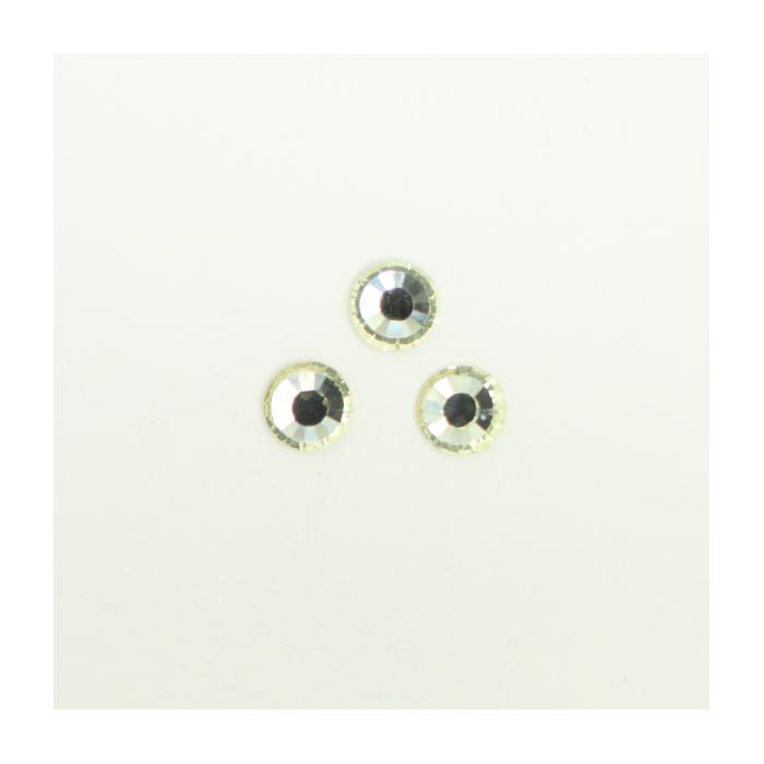 Perles à coller strassées 6mm jaune clair