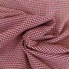 Tissu Coton Vichy - Bordeaux x 10cm