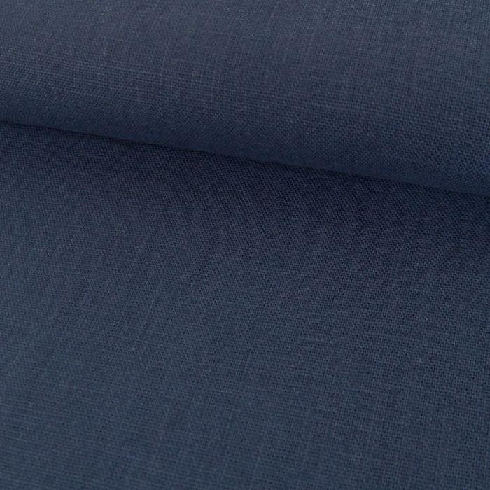 Tissu Lin Uni - Bleu x 10cm