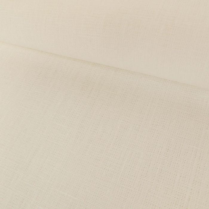Tissu Lin Uni - Blanc x 10cm