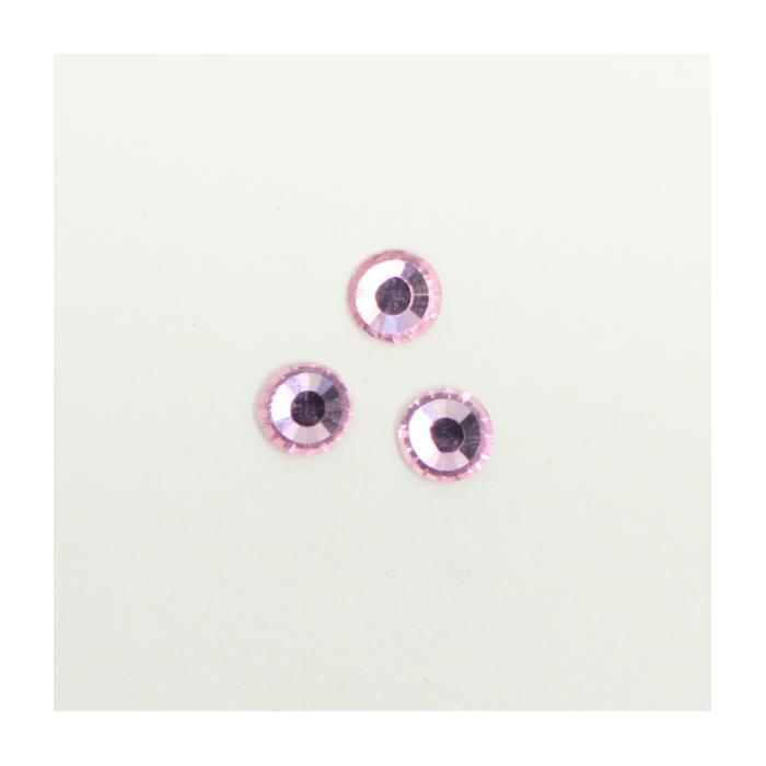 Perles à coller strassées 6mm rose