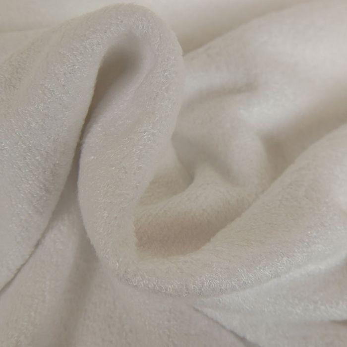 Tissu Eponge Oeko-Tex - Bambou - Blanc x 10 cm