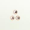 Perles à coller strassées 6mm rose saumon