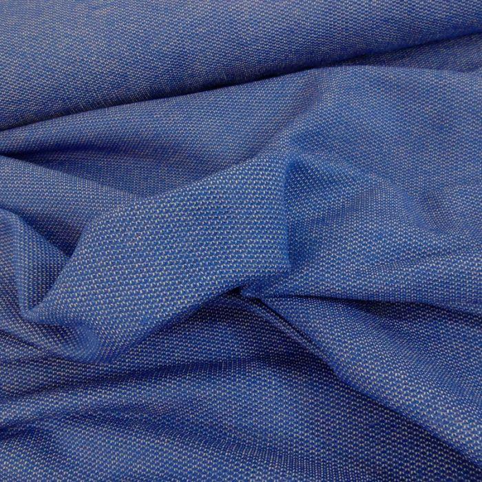 Tissu maille souple - bleu x 10 cm