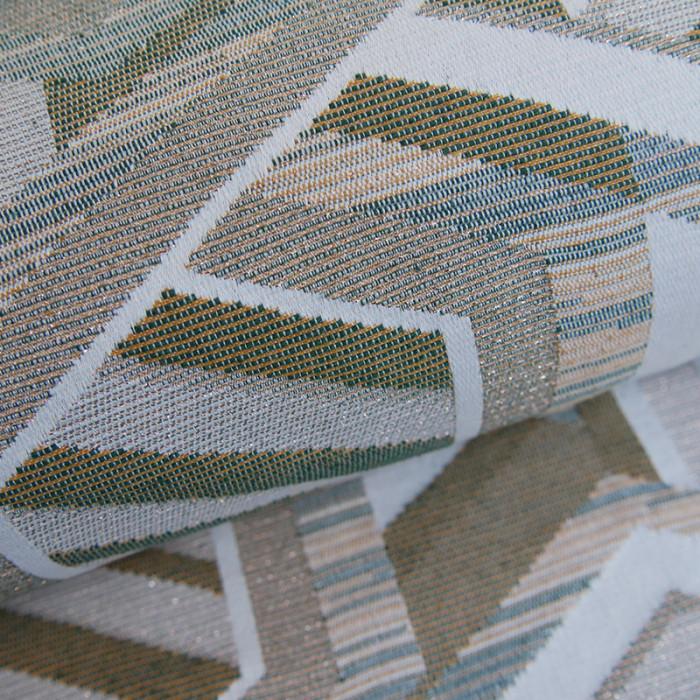 Coupon x 95 cm - Tissu tissé lurex cuivre