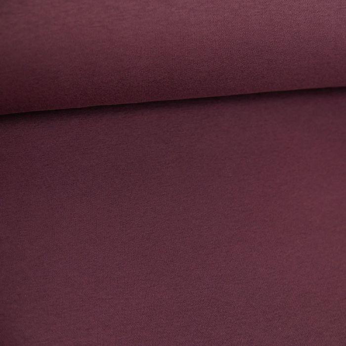 Coupon x 70 cm - Molleton sweat bordeaux