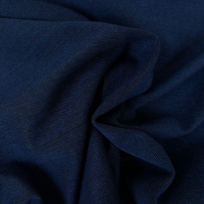 Tissu jean élasthanne - bleu foncé x 10 cm