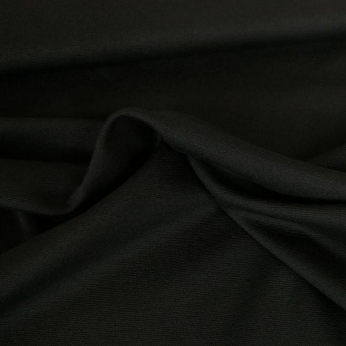 Tissu punto stretch - noir x 10 cm