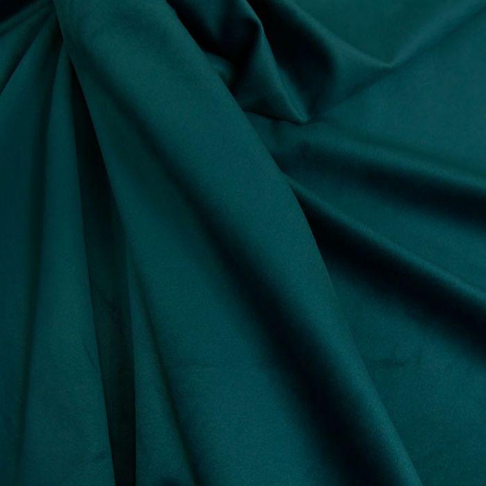 Tissu Velours - Vert Foret x 10 cm