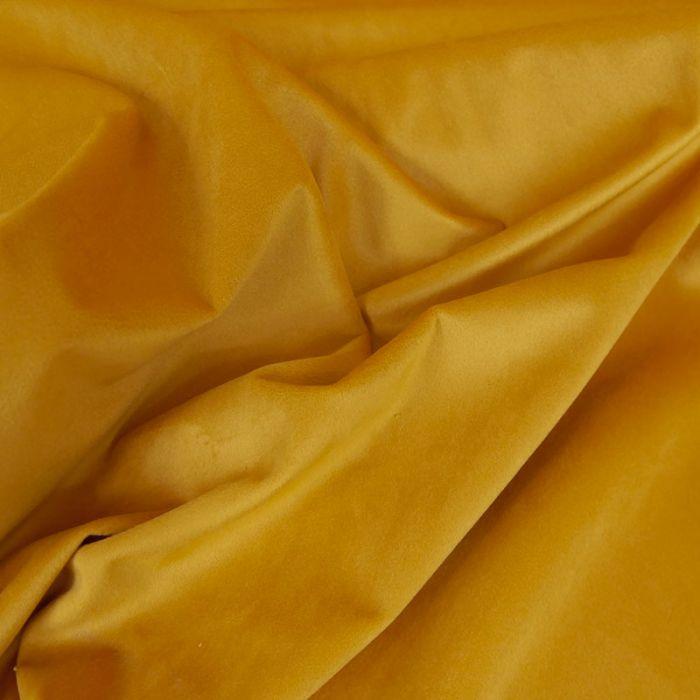 Tissu Velours - Or x 10 cm