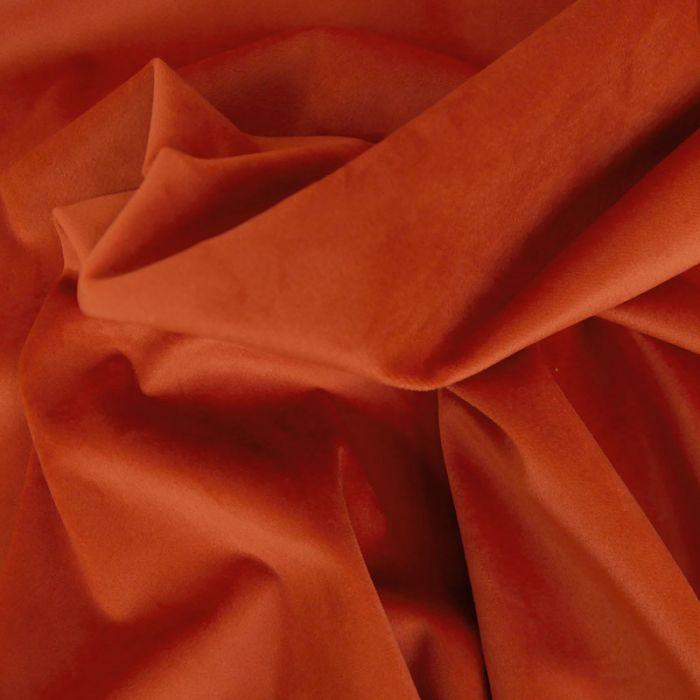 Tissu Velours - Tomette x 10 cm