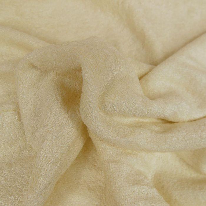Tissu Eponge Oeko-Tex - Bambou - Ecru x 10 cm