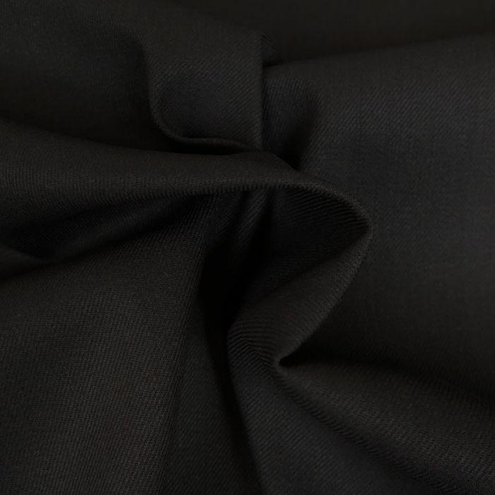 Tissu Coton Selvedge - Noir x 10 cm