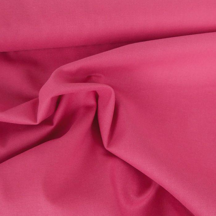 Tissu coton uni - rose fuchsia x 10 cm