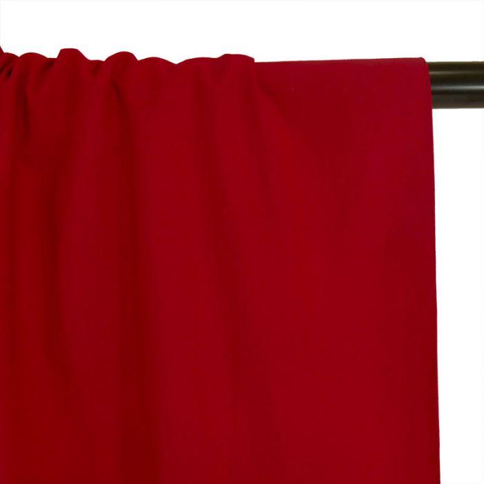 Tissu coton uni - rouge hermes x 10 cm