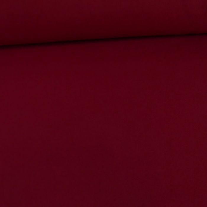 Tissu lainage polyester uni - bordeaux x 10 cm