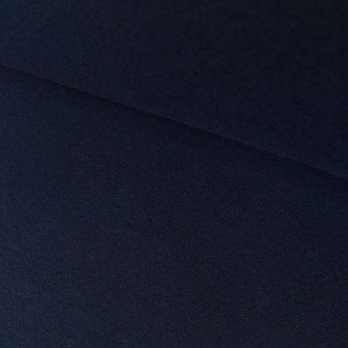 Tissu lainage polyester uni - marine x 10 cm