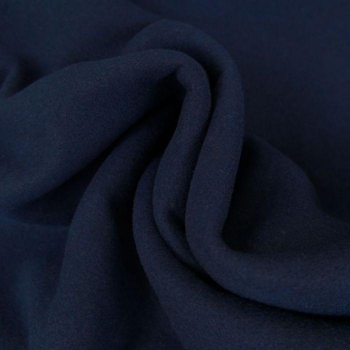 Tissu polyester uni - marine x 10 cm