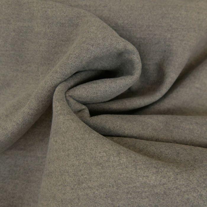 Tissu lainage polyester uni - gris x 10 cm
