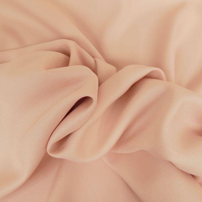 Tissu Crêpe viscose haute couture - rose poudre x 10 cm