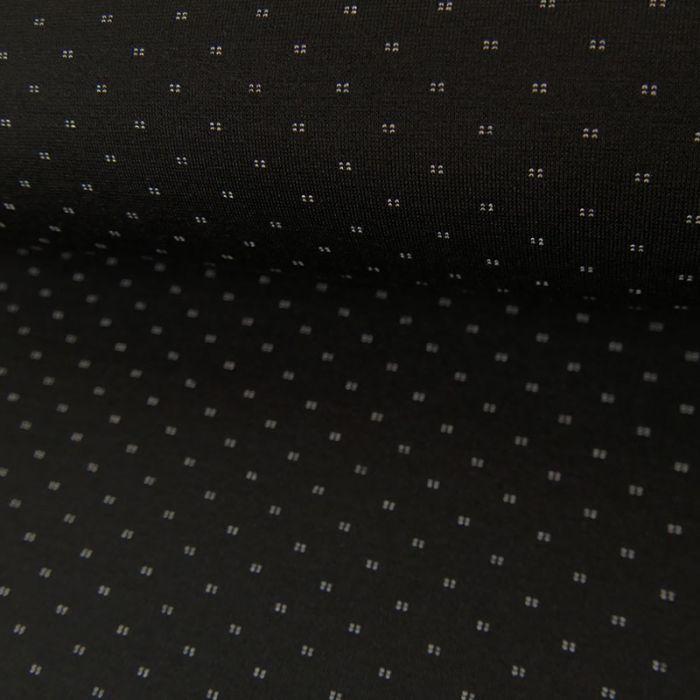 Coupon Polyviscose Réversible Noir - 80 X 150 cm