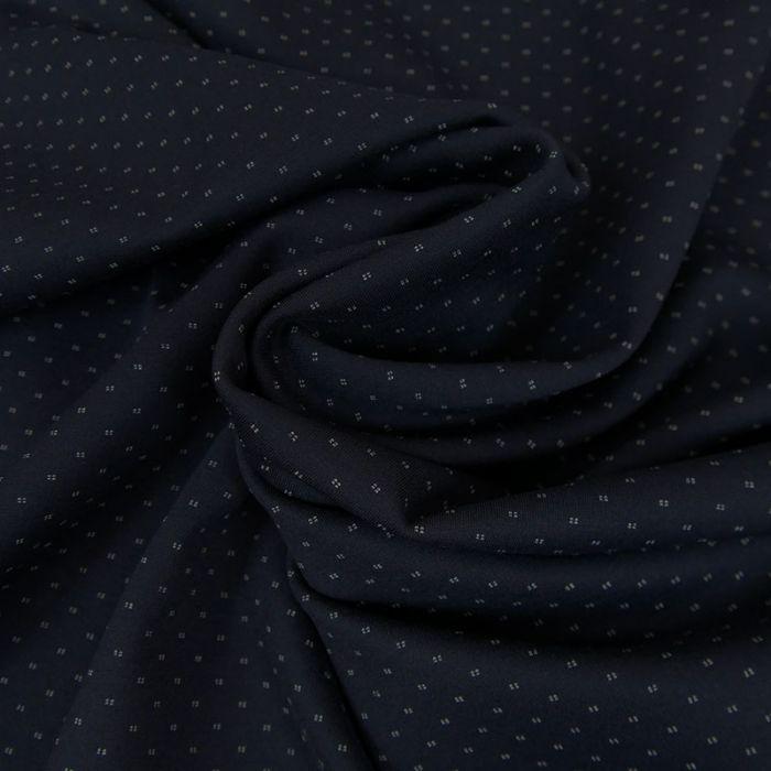 Tissu Polyviscose Réversible - Marine x 10 cm
