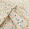 Tissu Milleraies Ecru - Fleurs x 10 cm