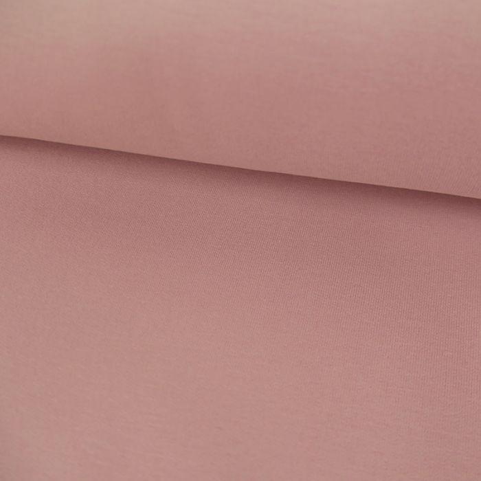 Tissu jersey sweat léger bio uni - rose x 10 cm