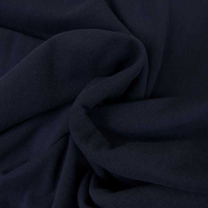 Tissu jersey sweat léger bio uni - bleu marine x 10 cm