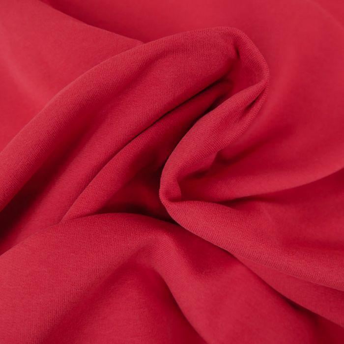 Tissu Jersey Fin Uni - Framboise x 10 cm