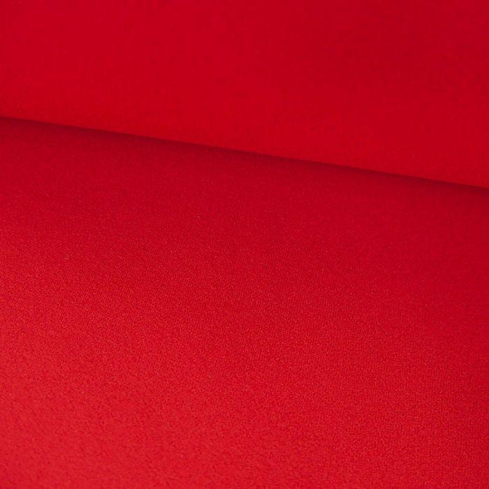 Tissu Polyester Uni Stretch - Coquelicot x 10 cm