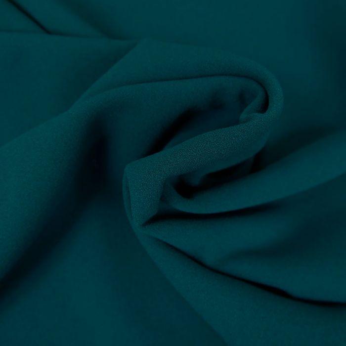 Tissu Polyester Uni Stretch - Canard x 10 cm