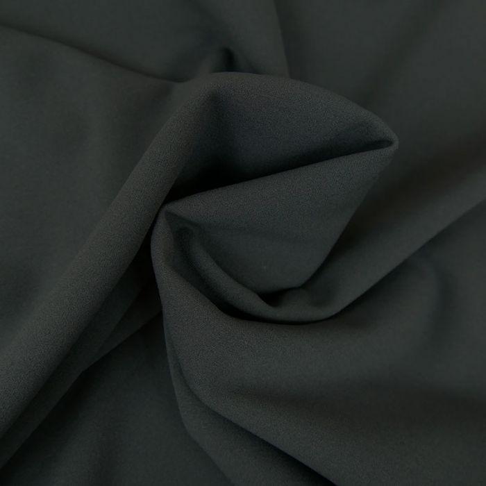 Tissu crêpe lourde uni stretch - Gris Mauve x 10 cm