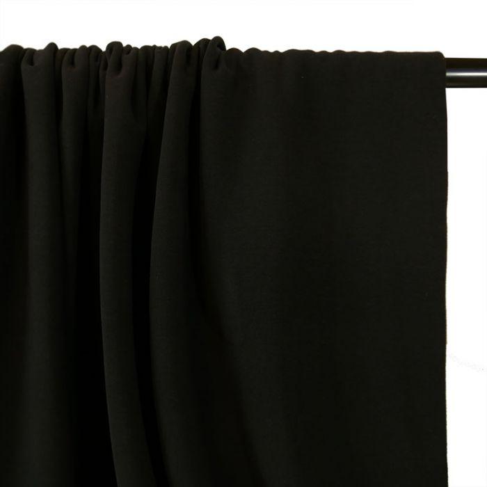 Tissu Jersey bio uni - Noir x 10 cm