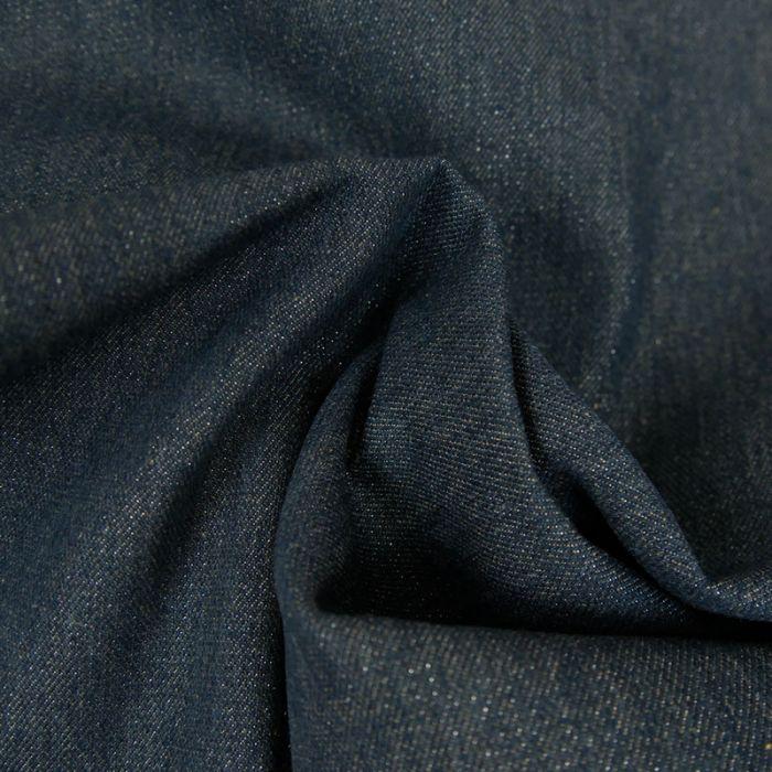 Tissu Jean Denim - Lurex - Bleu x 10 cm